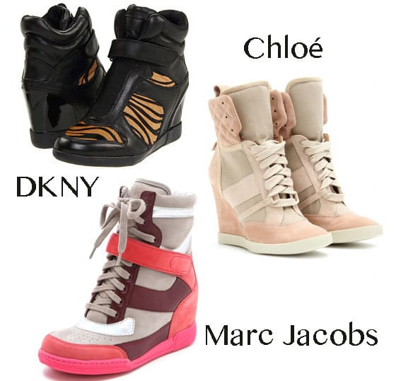 designer wedge sneakers