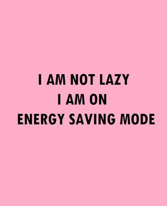 I'm on Energy Saving Mode