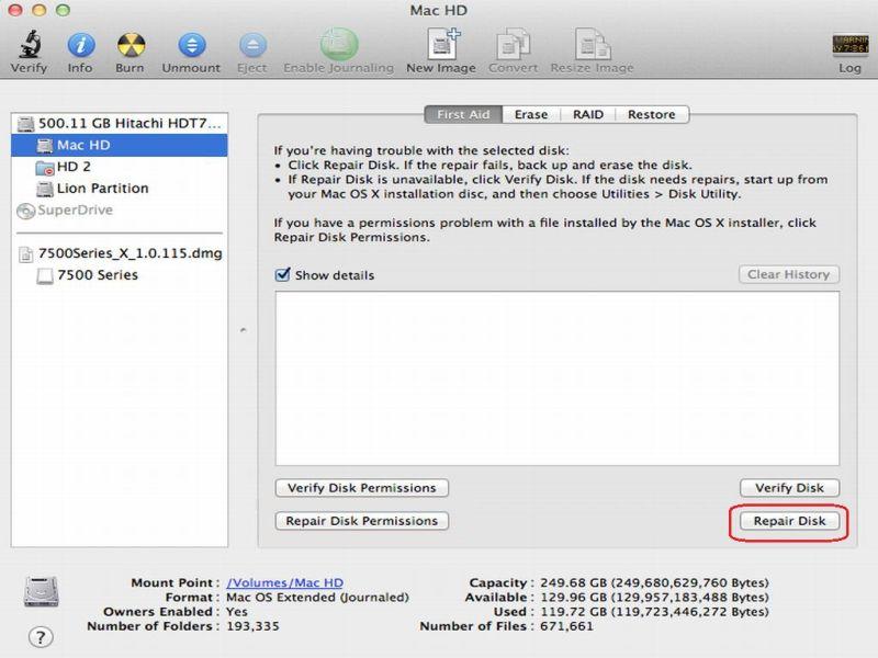 Macbook pro os x lion 10.7.5
