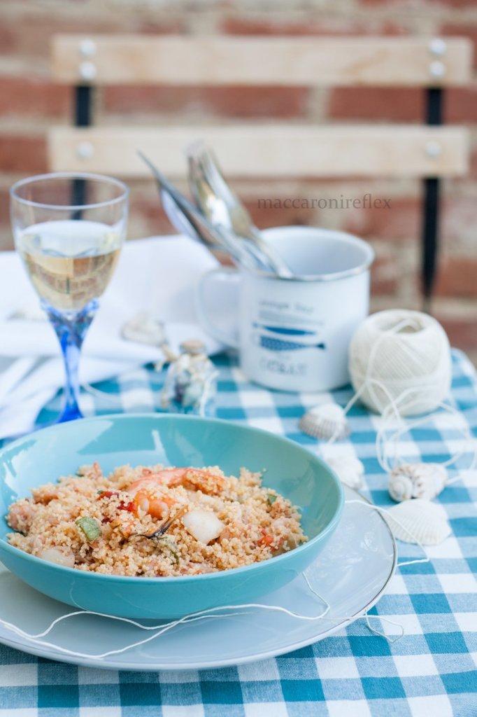 Cous cous con frutti di mare e verdure - piatti estivi