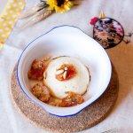 Ricottina al forno con pomodorini al pangrattato e pinoli