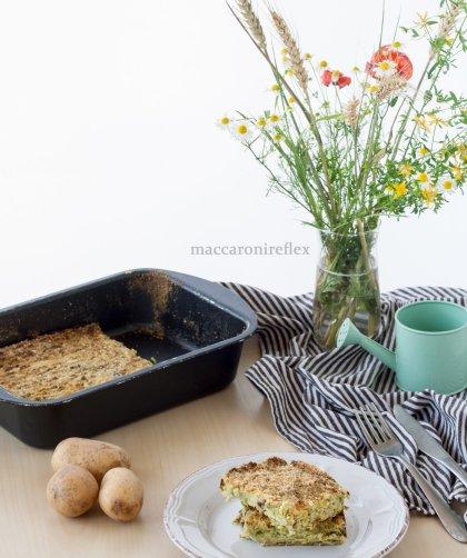 polpettone alla ligure con patate e fagiolini