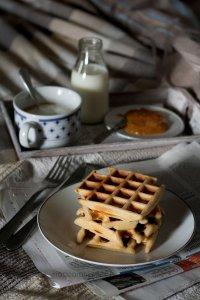 Waffle ricetta americana per colazione - ricetta dolce