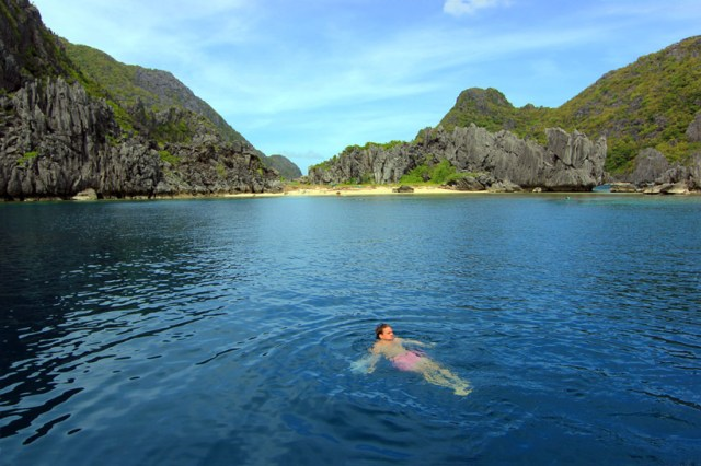 Lazing in a lagoon, El Nido