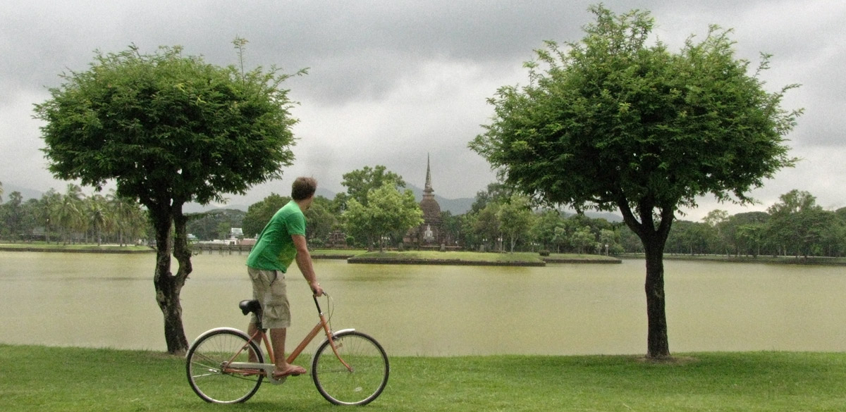 Cycling in Sukhothai