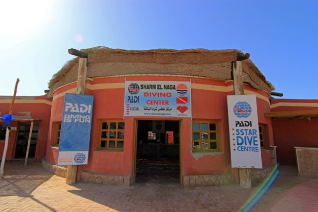 PADI dive centre at Sharm el Naga