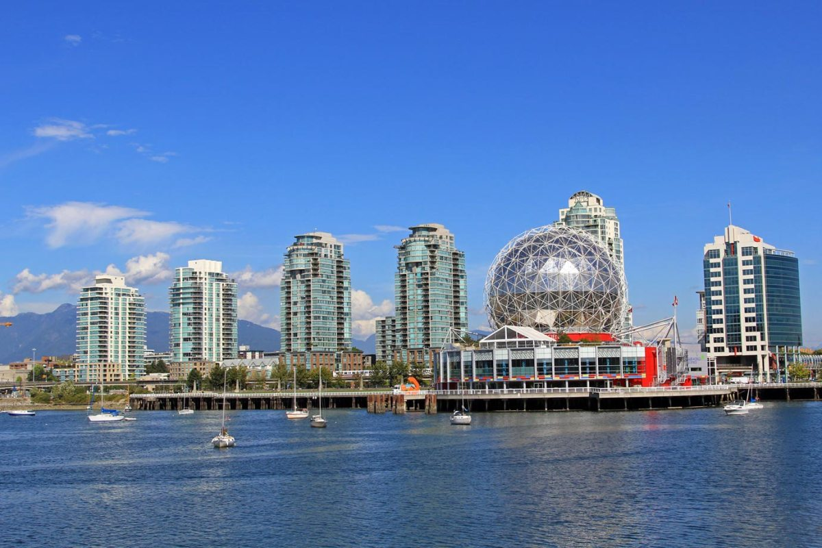 The cityscape of Vancouver, Canada
