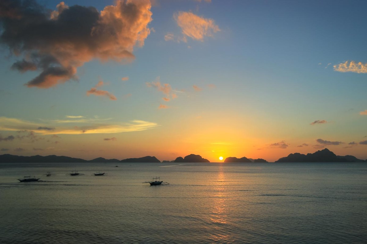 Sunset in El Nido, the Philippines