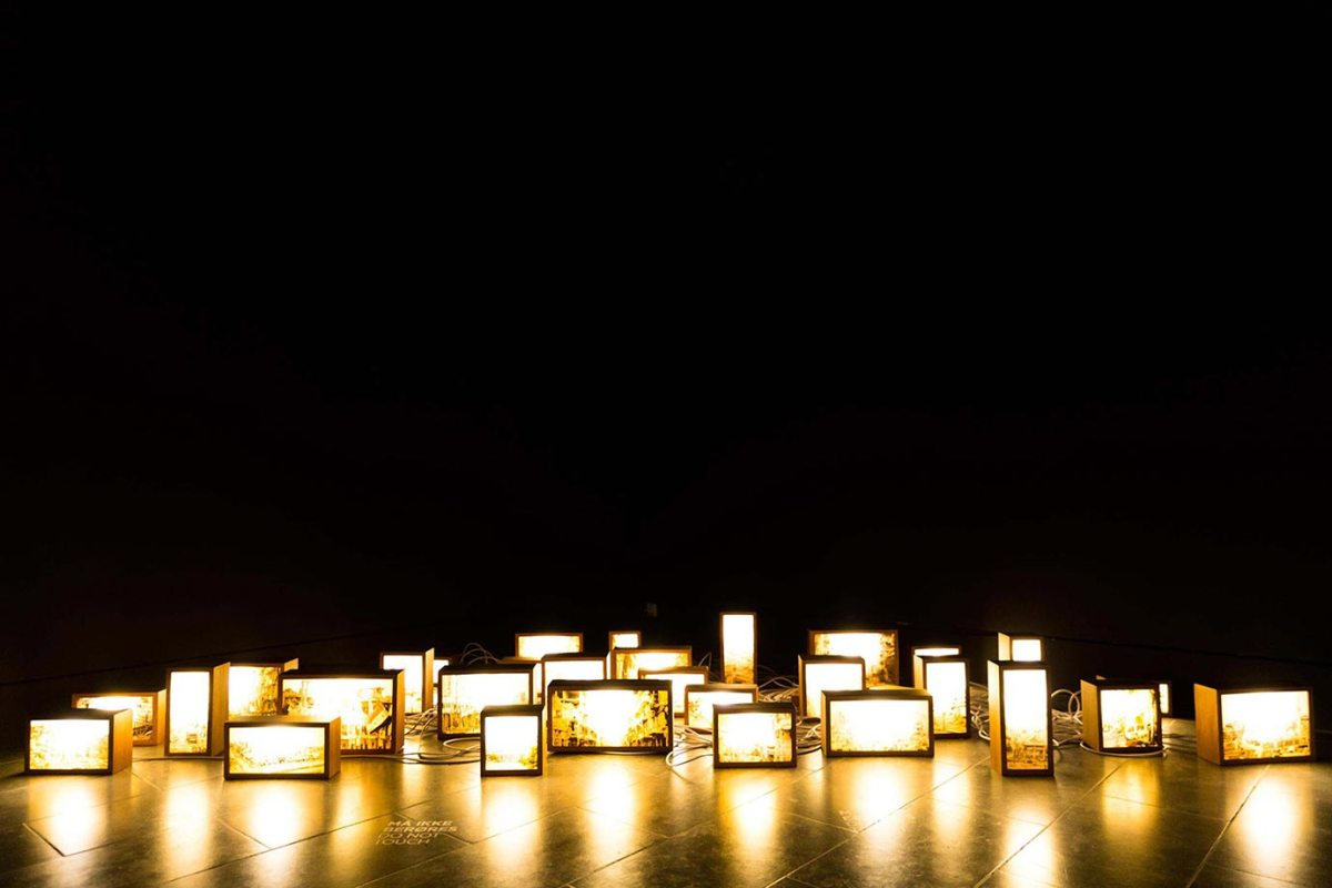 A light installation at Louisiana, the museum of modern art in Copenhagen