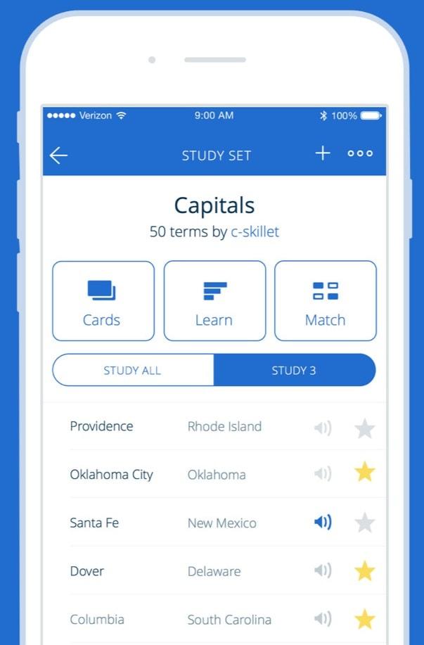 Quizlet App Image