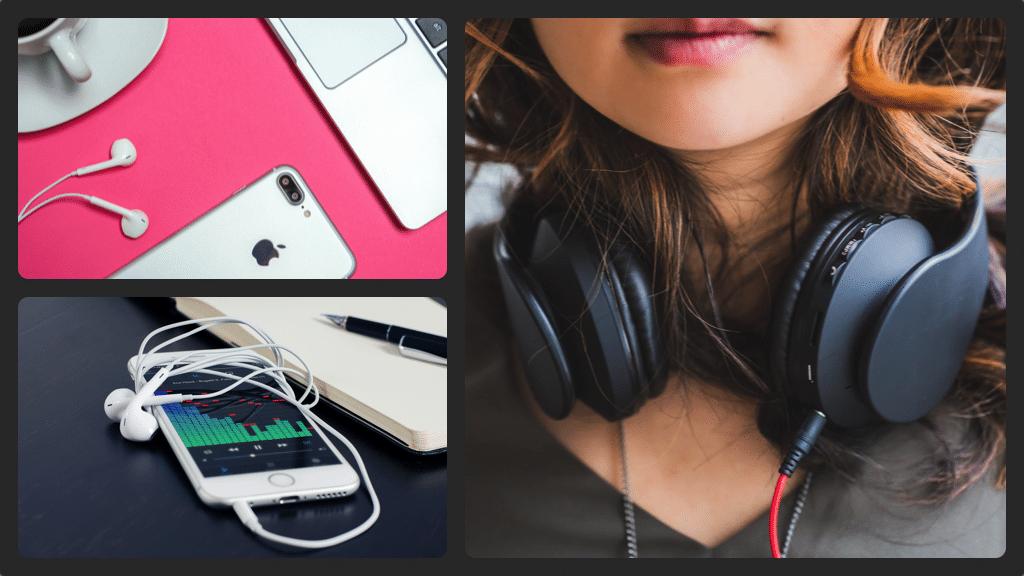 Headphones collage