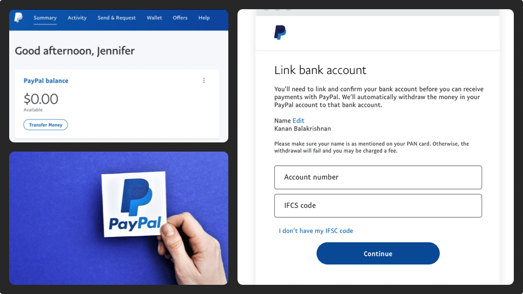 withdraw to bank account using paypal