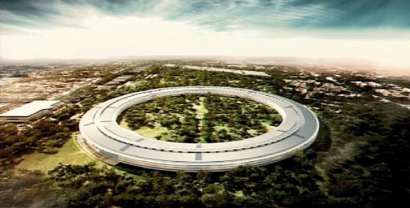Apple's proposed second campus in Cupertino, California