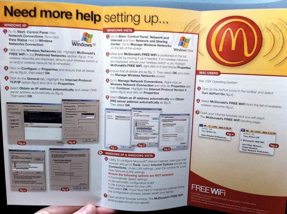 McDonald's WiFi Setup Guide