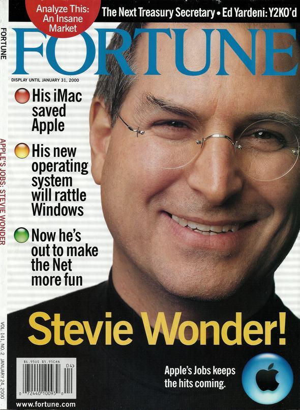 Fortune, January 24, 2000, Steve Jobs, Stevie Wonder