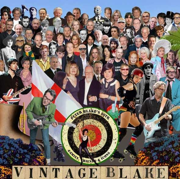 Sir Peter Blake 'new Sgt Pepper' artwork Photograph: Sir Peter Blake/Vintage Festival/PA