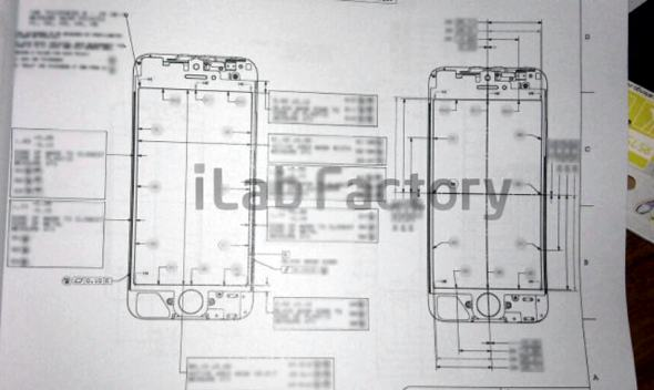 Purported iPhone 5 design schematic