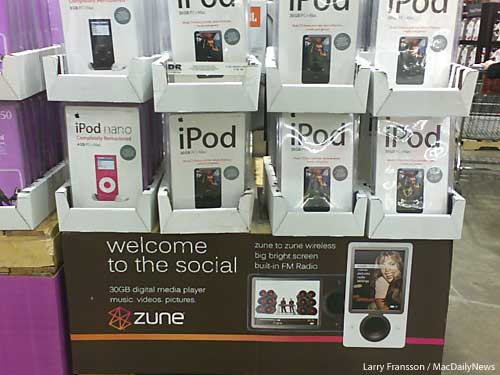 Zune iPodded at Costco