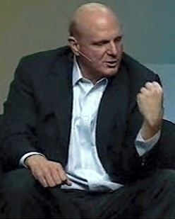 Ballmer T. Clown punching himself in the face