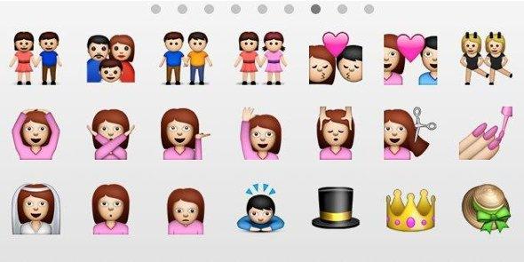 iOS 6 homosexual couple emoticons