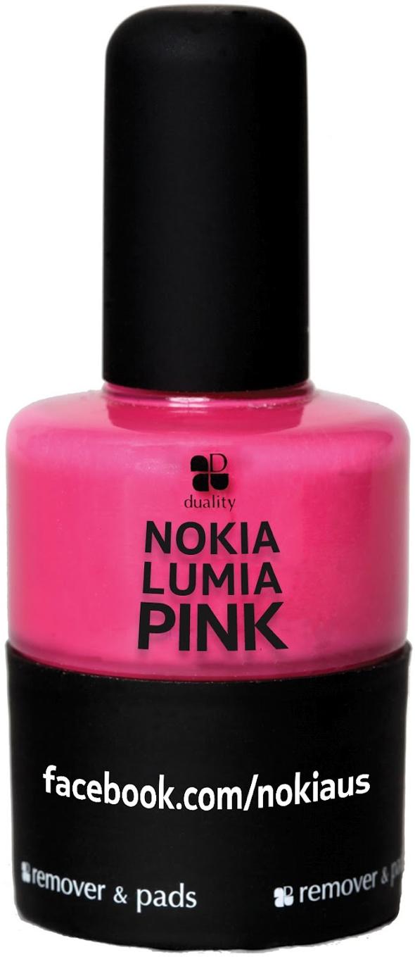 Limited-Edition Nokia Lumia Pink Nail Polish