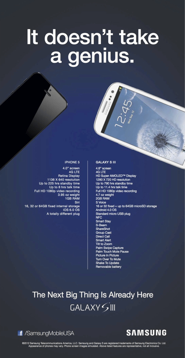 """Samsung ad """"It doesn't take a genius"""""""