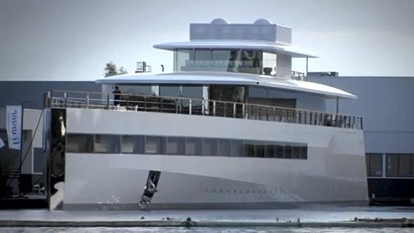 """Steve Jobs'  mega yacht, """"Venus."""""""