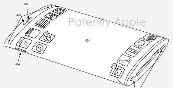 Apple iPhone with Wraparound Display