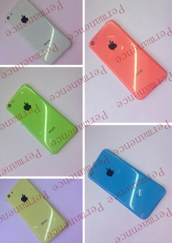 Purported low-cost iPhone's polycarbonate rear casings (image: Sonny Dickson)