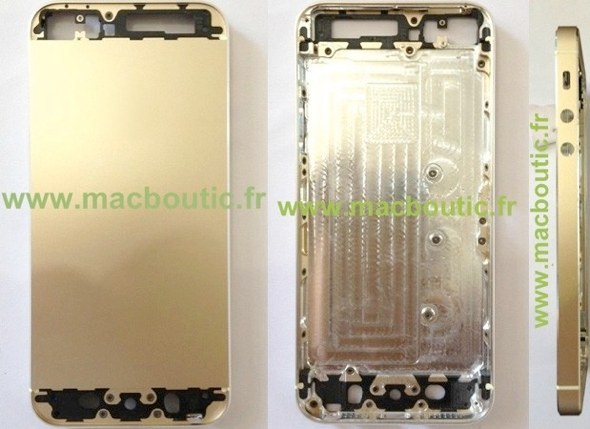 Purported iPhone 5S in champagne gold