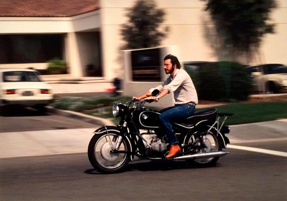 Steve Jobs on his 1966 BMW R60/2 motorcycle,  1981 (Photo by Charles O'Rear, National Geographic Image Collection, Washington, D.C.)
