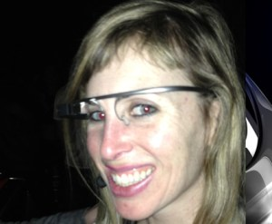 A patron at Molotov's in San Francisco took this photo of Sarah Slocum wearing Google Glass before she said she was attacked on February 21, 2014. (Sagesse Gwinn Graham / CBS)