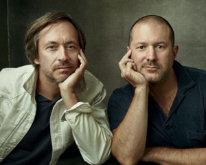 Apple's Marc Newson (left) and Jony Ive