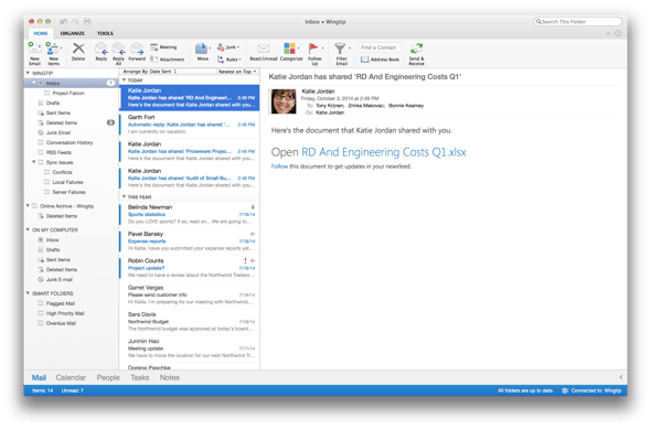 Microsoft Outlook for the Mac