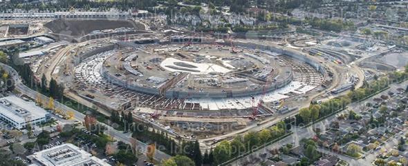 Apple Campus 2 Site Aerial