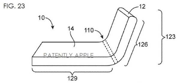 Illustration of flexible device from Apple's US patent application