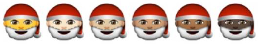 Apple's new diverse emoji include black Santa Claus
