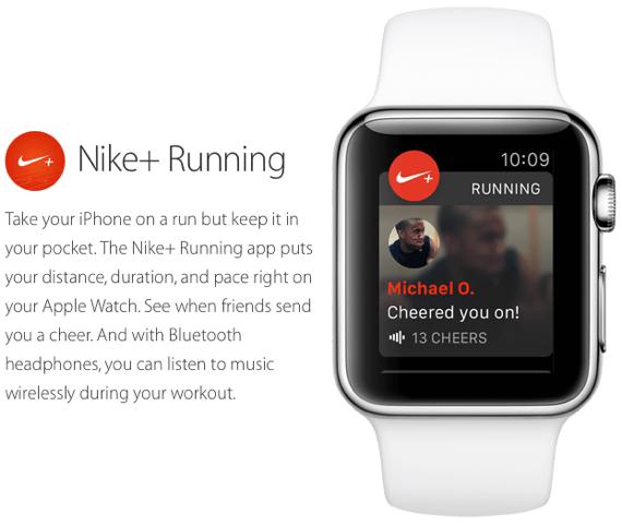 Nike+ Running app for Apple Watch