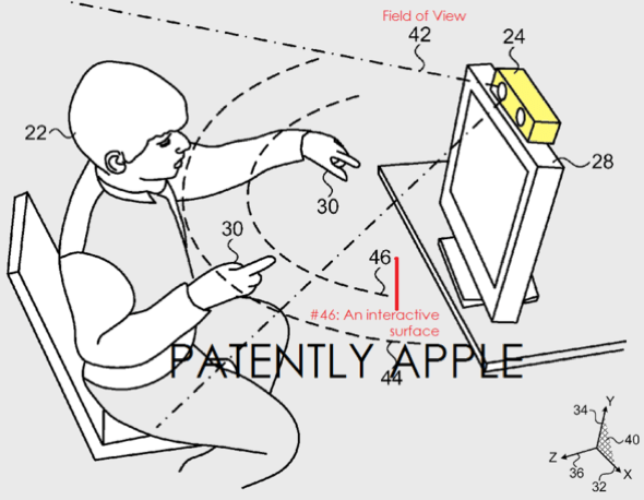 Apple patent: Combining Explicit Select Gestures and a TimeClick Function in a Non-Tactile 3D UI