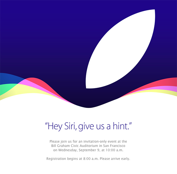 Apple September 9th 2015 special event invitation