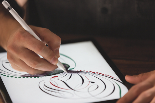 The Apple Pencil for iPad Pro