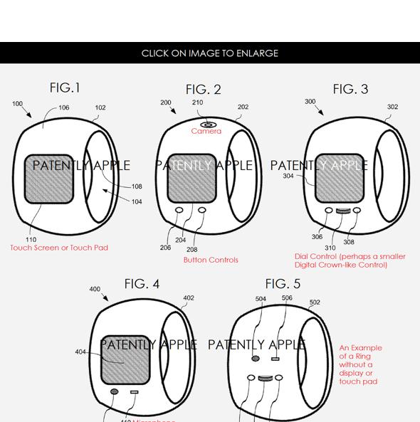 Apple patent application illustration: Apple Ring
