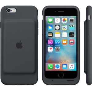 Apple's official iPhone 6/6s Smart Battery Case in Charcoal Gray