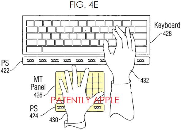 Apple virtual keyboard USPTO