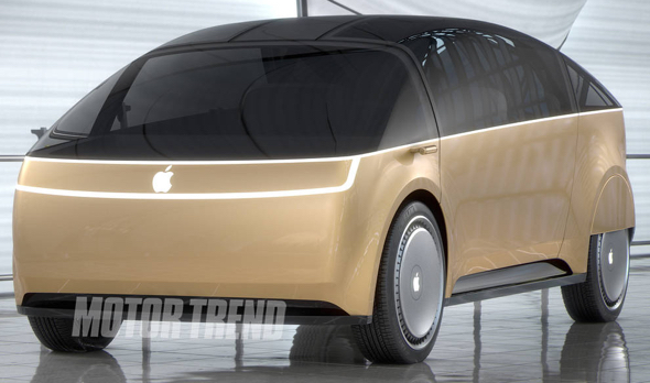 "The vomitous ""Apple Car,"" as imagined by Motor Trend"