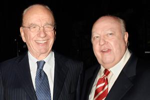 Rupert Murdoch (left) and Roger Ailes