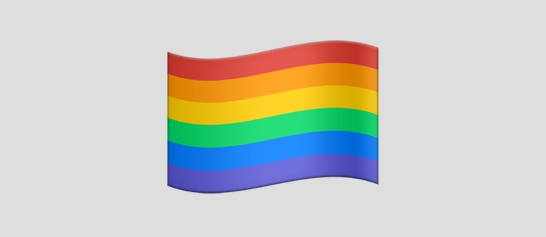 This rainbow flag is one of 100 new or redesigned emojis that will debut this fall in Apple's iOS 10.
