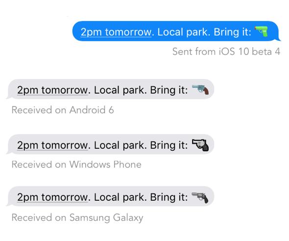 Gun emoji danger
