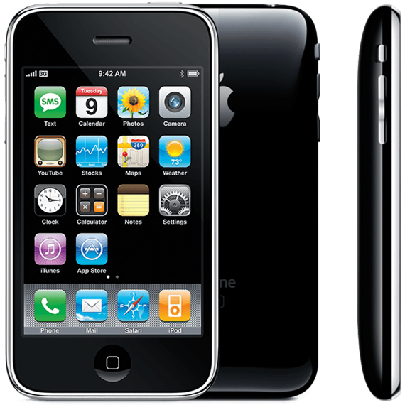 Apple's iPhone 3G was the first iPhone to incorporate mobile telecom network connectivity in its name