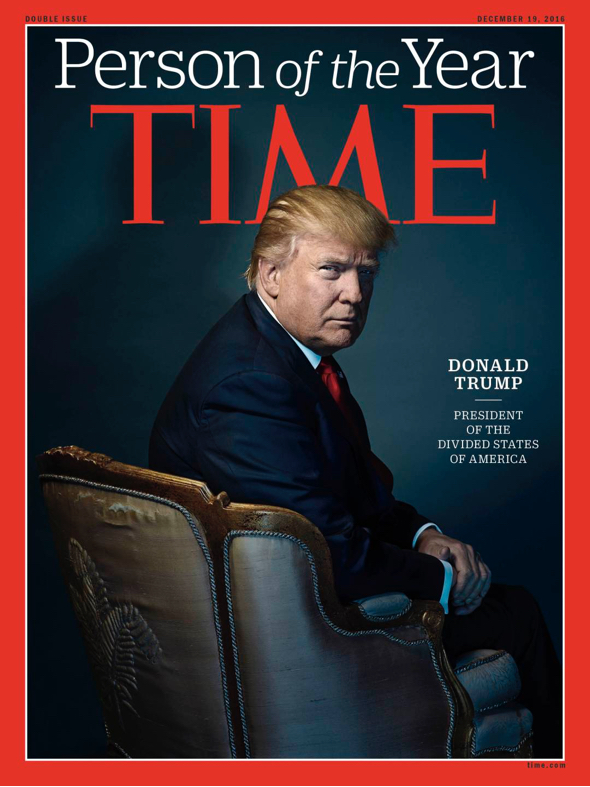 TIME Magazine's Person of the Year, President-elect Donald Trump